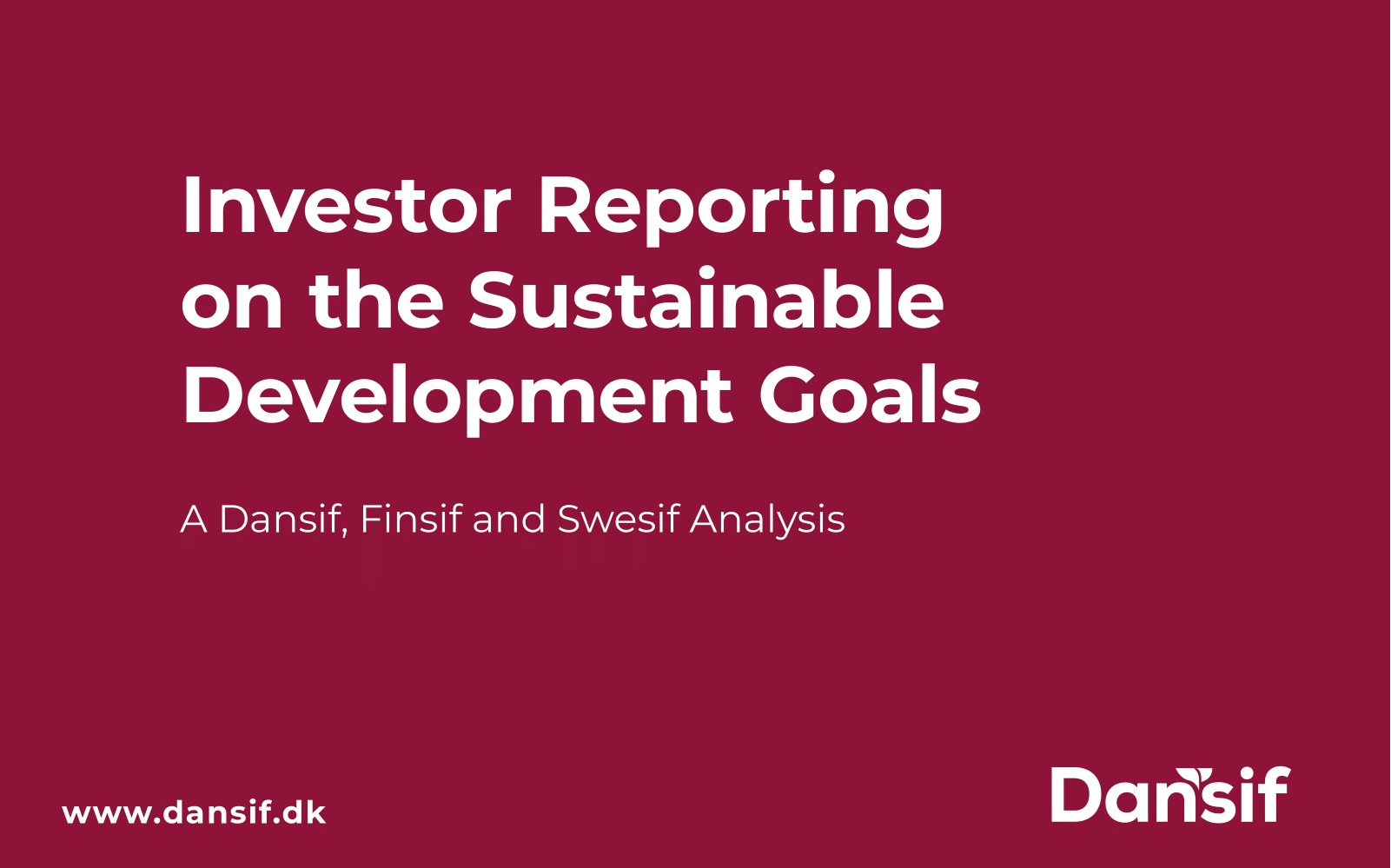 Investor Reporting on the Sustainable Development Goals